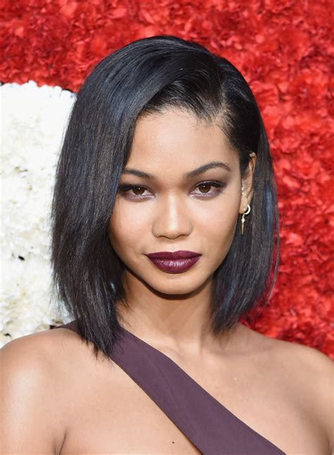 chanel haircuts chanel iman asymmetrical cut shoulder length hairstyles