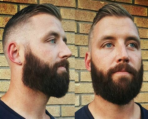 Short Hairstyles With Full Beard | mens short hairstyles with full beard hairstyles