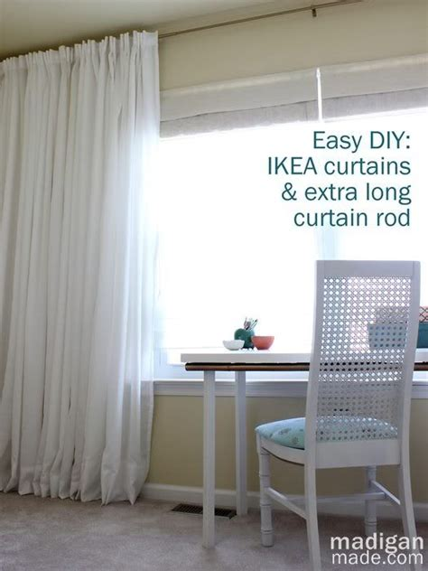 how to hang ikea curtains best 25 extra long curtains ideas on pinterest curtains