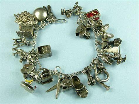antique charm bracelets for vintage sterling silver charm bracelets we are currently