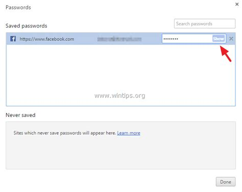 chrome saved passwords how to view the saved passwords in chrome wintips org