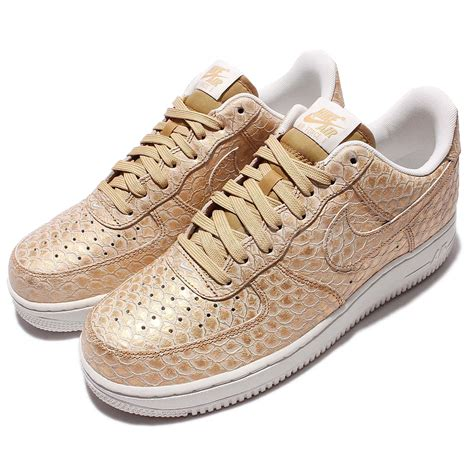 Shoes Sport Nike Air One Putih Gold Casual Cewek nike air 1 07 lv8 gold snakeskin mens casual shoes
