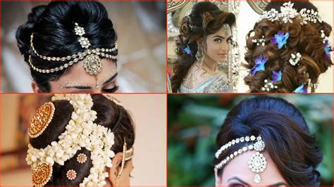 indian bridal hairstyles youtube 10 most beautiful indian bridal hairstyle images youtube