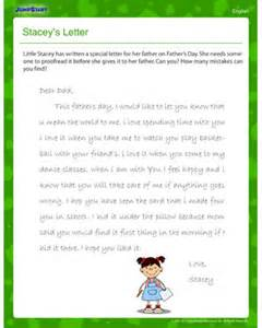 stacey s letter fun father s day punctuation worksheet