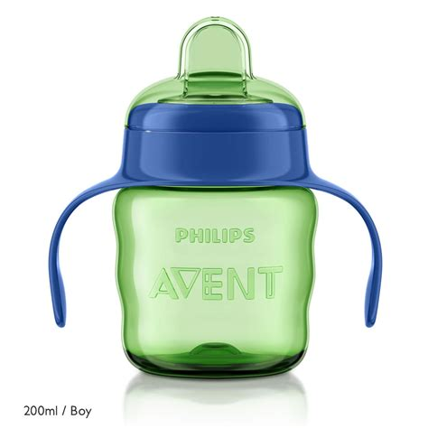 New Avent Soft Spout Pinguin 200ml alami avent 2018 promotion special avent easy sip spout cup with handles 200ml