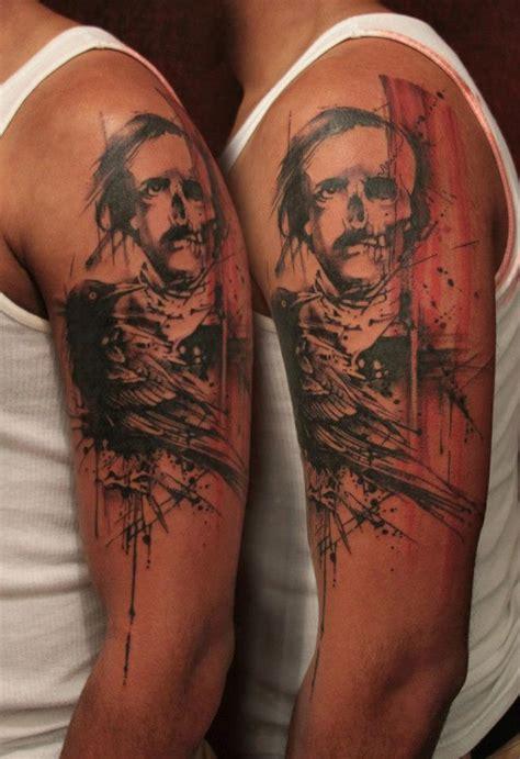 half skull half human tattoo tattoomagz