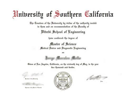 Of Southern California 5 Year Engineeribng And Mba Degree by Xpress Deluxe Diploma With Transcripts Novelty Works Degrees