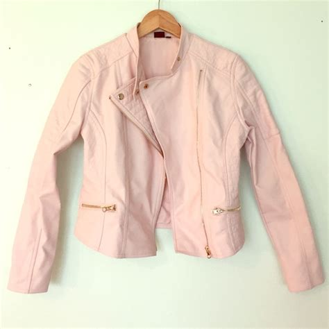 light pink jacket 58 seventeen outerwear light pink faux leather