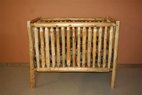 Cedar Log Baby Crib Convertible Barn Wood Furniture Log Baby Cribs