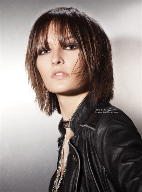 hi light fringe hairstyles how to this mid length layered haircut is neck length at its