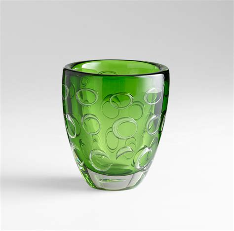 Small Decorative Glass Vases Small Brin Emerald Glass Vase By Cyan Design