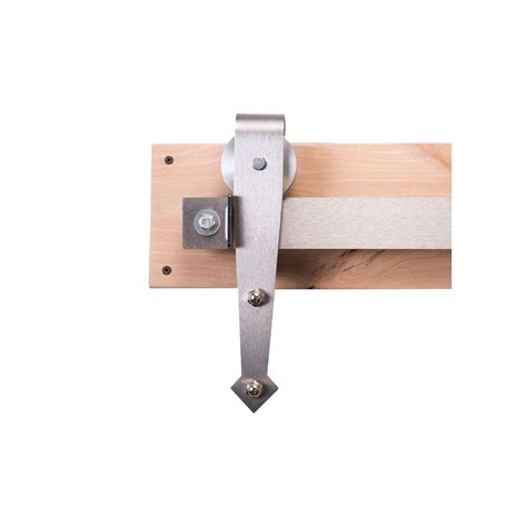 Box Track Barn Door Hardware Crown Bolt Zinc Plated Box Rail Hanger Kit 62896 The Home Depot