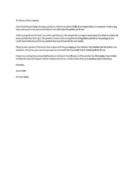 Product Recommendation Letter | Templates at