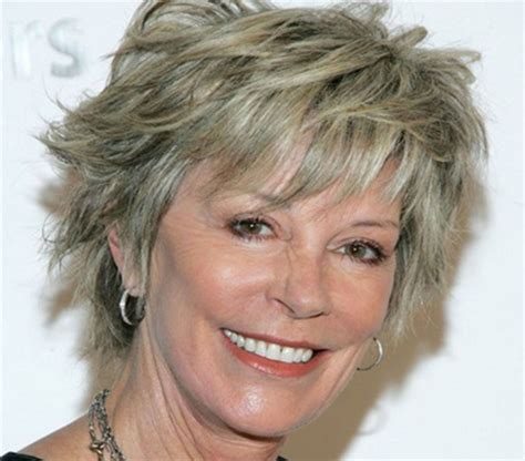 gray shag haircuts short layered hairstyles for women over 50