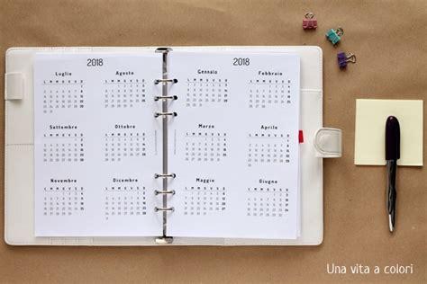 Calendario Annuale 2018 Refill 2018 Fogli Ricambio Per Agenda Personal Ed A5