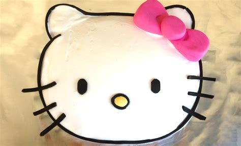 Easy Hello Kitty Cake How To Cook That Hello Kitty Cake Ann Reardon Youtube Hello Cake Template Printable