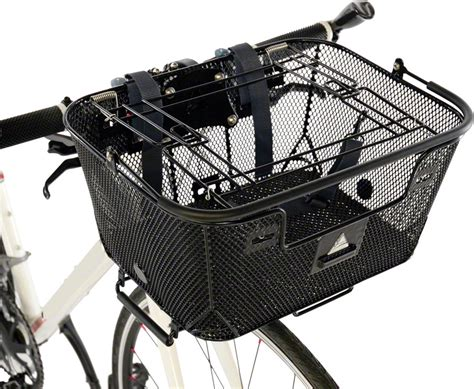 Bike Basket Rack by Axiom Pet Basket With Rack Mount And Handlebar Mount