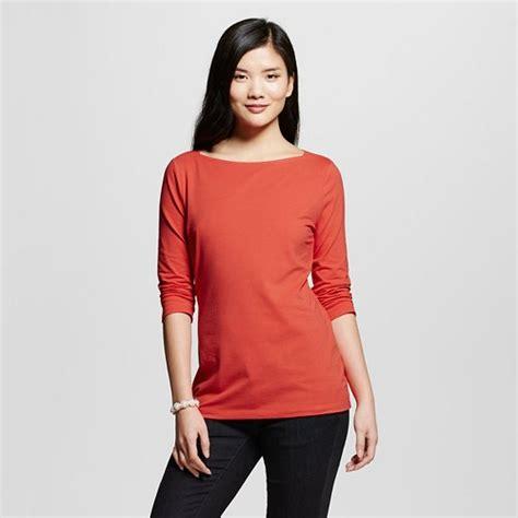 women s boatneck tee 3 4 sleeve merona ebay - Target Boatneck Tee
