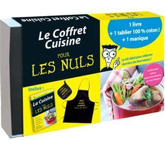 livre de cuisine pour d饕utant pour les nuls coffret avec 1 tablier en coton et 1
