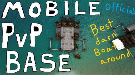 ark motorboat base mobile pvp base tutorial full motorboat base ark
