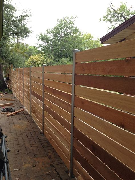 how to build a horizontal cedar fence woodworking