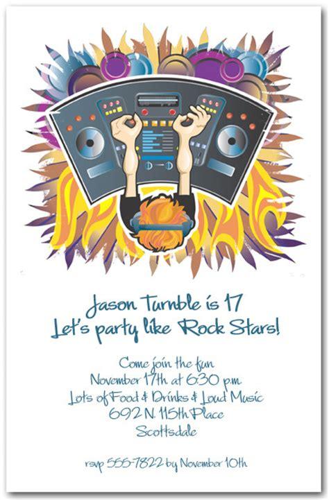 console musica dj console invitations
