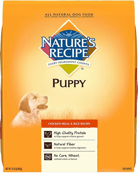 nature s recipe puppy food review nature s recipe puppy chicken meal rice recipe food 15 lb bag chewy