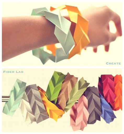 Cool Origami Crafts - playful paper bracelets diy blomming about arts