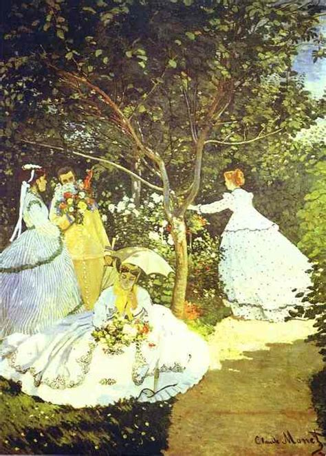 Monet In The Garden by In The Garden By Claude Monet 1840 1926