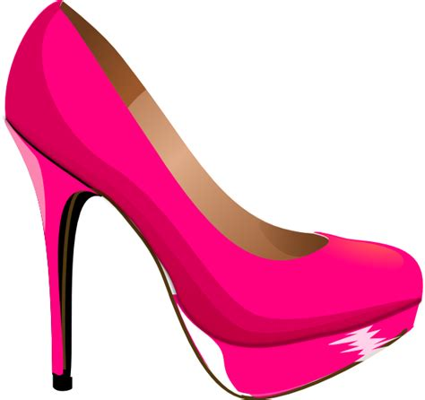 shoe clipart pink highheal shoe clip at clker vector clip