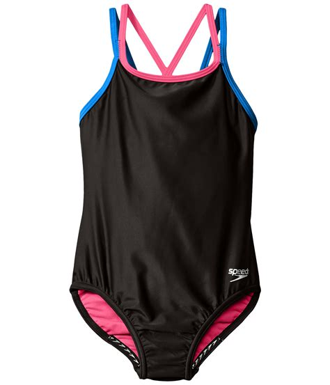 speedo one piece swimsuit kids speedo kids crossback one piece swimsuit big kids at