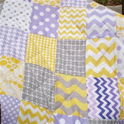 Toddler Patchwork Quilt - nautical baby quilt patchwork crib from happyquilts on etsy
