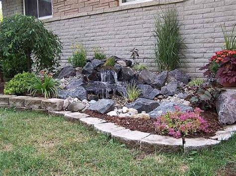 pondless waterfall garden yard garden