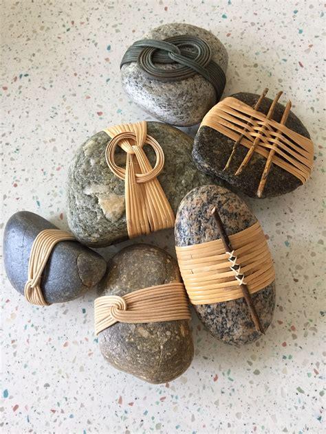 stowe basketry festival  rock crafts stone art stone