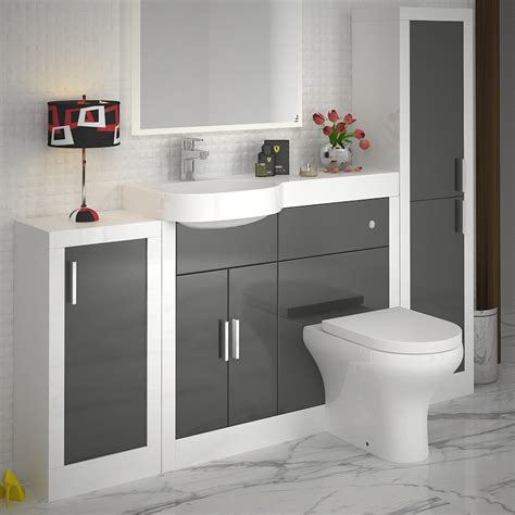 Apollo Bathroom Fitted Furniture Set Grey Buy Online At Apollo Bathroom Furniture