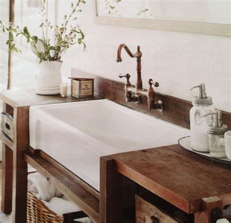 rustic farmhouse bathroom love these apron front farm style sinks denver house