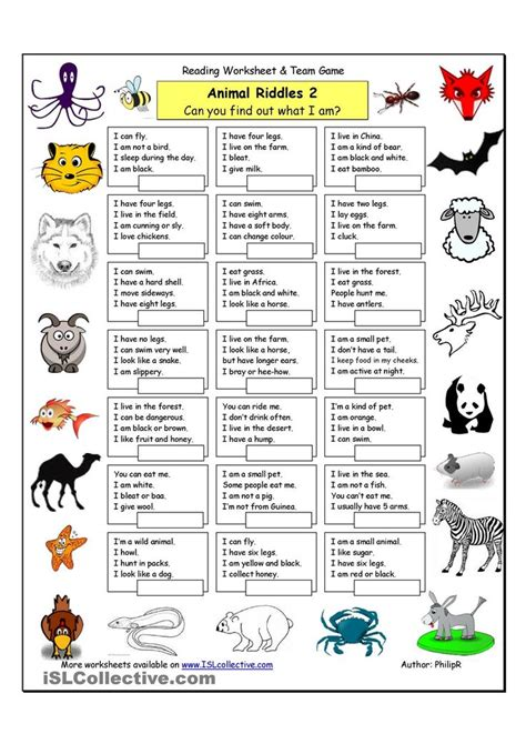 printable animal quiz worksheets 17 best images about activities riddles quizzes trivia
