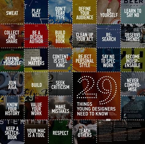 design advice 29 things young designers need to know