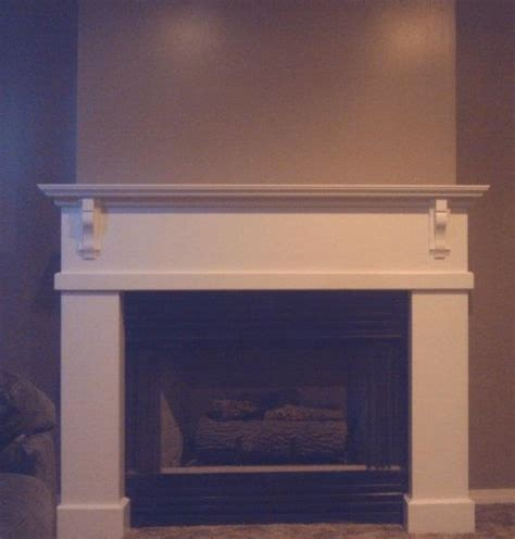 very simple mantel fireplace surround by niagrab