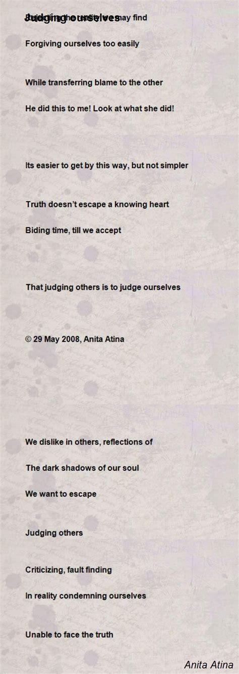tion poem by david desantis poem judging ourselves poem by atina poem Addi