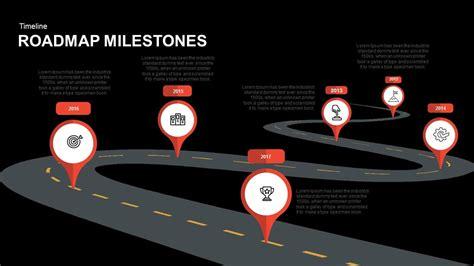 Roadmap Milestones Powerpoint And Keynote Template Slidebazaar Milestone Roadmap Template
