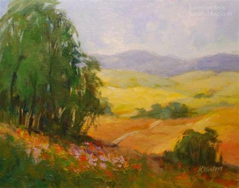 impressionist landscape painting golden california impressionist landscape