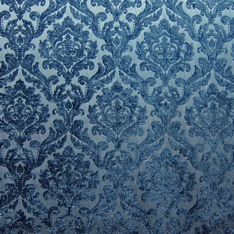 blue damask upholstery fabric dark blue chenille damask designer upholstery fabric