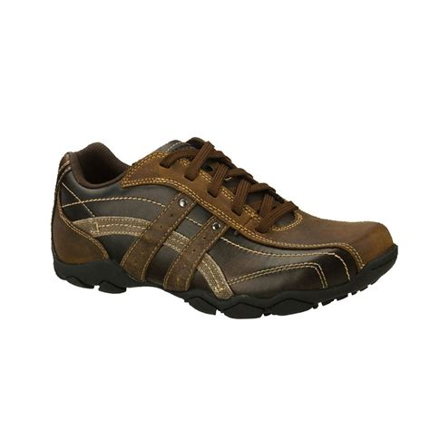 skechers s kruger casual shoe brown clothing