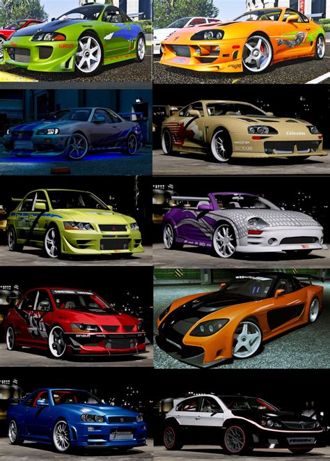 fast and furious 1 cars the fast and the furious cars pack hq add on