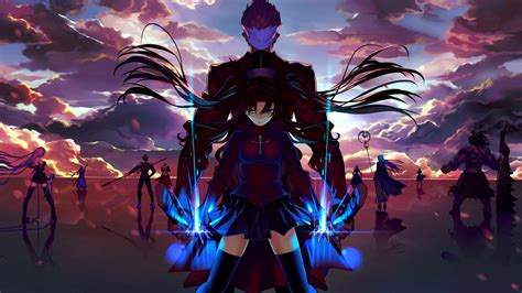 hot anime backgrounds anime girls anime artwork fate series tohsaka rin