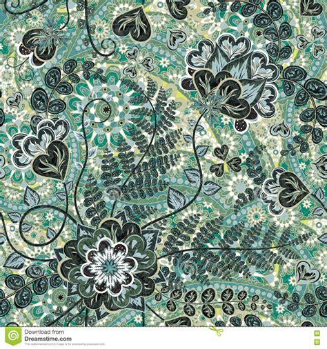 batik pattern vector illustrator vintage pattern in indian batik style floral vector