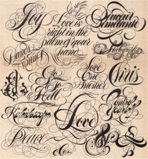 tattoo fonts a fonts and lettering for your new