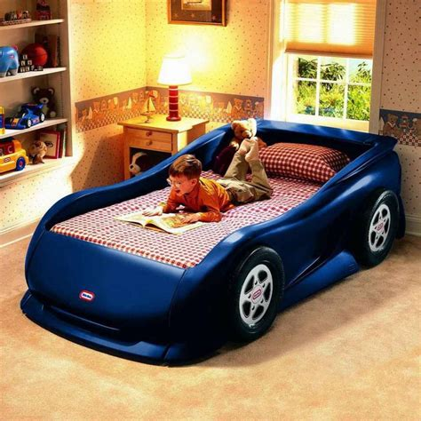 bed car racing cars beds for boy bedroom