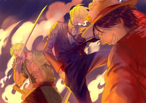 wallpaper  piece roronoa zoro monkey  luffy sanji